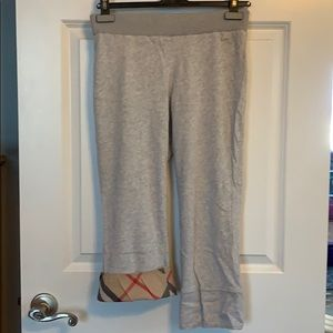 Burberry cropped sweatpants cuffed novacheck